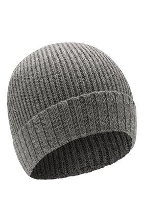 Мужская шерстяная шапка BOSS серого цвета, арт. 50416234 | Фото 1