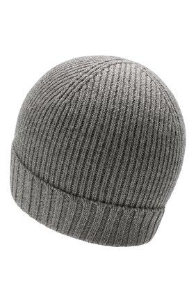 Мужская шерстяная шапка BOSS серого цвета, арт. 50416234 | Фото 2