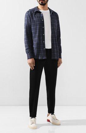 Мужская хлопковая рубашка KITON темно-серого цвета, арт. UMCMARH0707750 | Фото 2