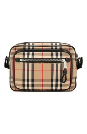 Мужская текстильная сумка BURBERRY бежевого цвета, арт. 8010152 | Фото 1