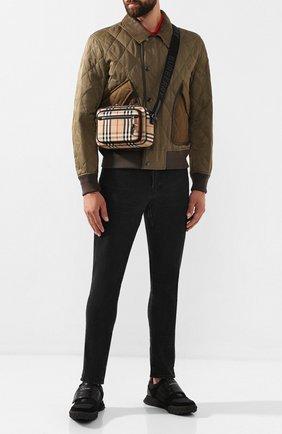 Мужская текстильная сумка BURBERRY бежевого цвета, арт. 8010152 | Фото 2