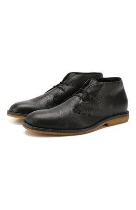 Мужские кожаные ботинки BRIONI черного цвета, арт. QQC20L/P7731 | Фото 1