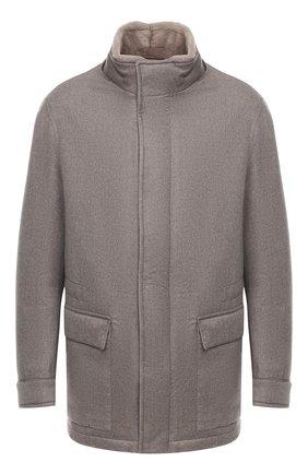 Мужская кашемировая куртка с меховой подкладкой BRIONI серого цвета, арт. SFNQ0L/08363 | Фото 1