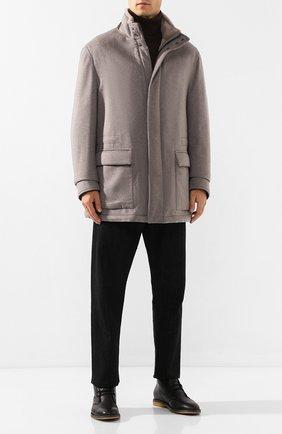Мужская кашемировая куртка с меховой подкладкой BRIONI серого цвета, арт. SFNQ0L/08363 | Фото 2