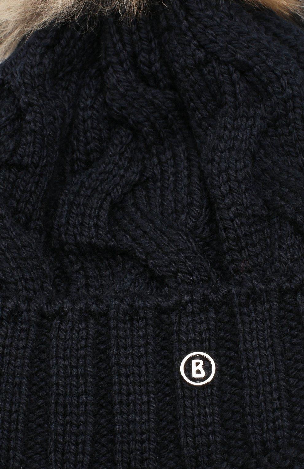 Детского шапка BOGNER KIDS темно-синего цвета, арт. 9550P228   Фото 3