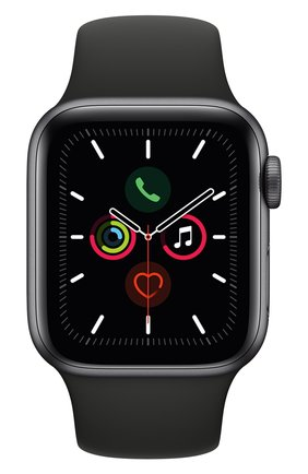 Мужские смарт-часы apple watch series 5 (gps) 40mm space gray aluminium case with black sport band APPLE space gray цвета, арт. MWV82RU/A | Фото 1