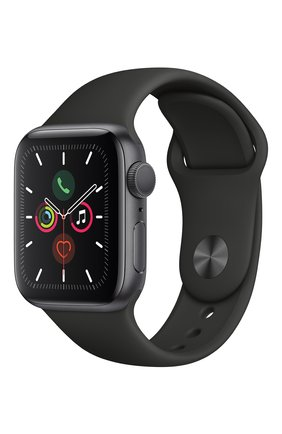 Мужские смарт-часы apple watch series 5 (gps) 40mm space gray aluminium case with black sport band APPLE space gray цвета, арт. MWV82RU/A | Фото 2