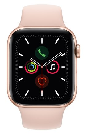Мужские смарт-часы apple watch series 5 (gps) 44mm gold aluminium case with pink sand sport band APPLE gold цвета, арт. MWVE2RU/A | Фото 1