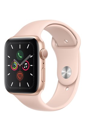 Мужские смарт-часы apple watch series 5 (gps) 44mm gold aluminium case with pink sand sport band APPLE gold цвета, арт. MWVE2RU/A | Фото 2