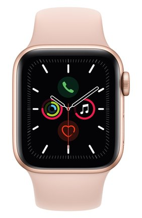 Мужские смарт-часы apple watch series 5 (gps) 40mm gold aluminium case with pink sand sport band APPLE gold цвета, арт. MWV72RU/A | Фото 1