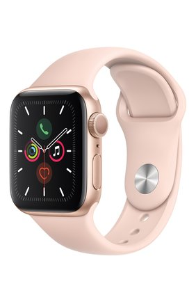 Мужские смарт-часы apple watch series 5 (gps) 40mm gold aluminium case with pink sand sport band APPLE gold цвета, арт. MWV72RU/A | Фото 2