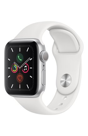 Мужские смарт-часы apple watch series 5 (gps) 40mm silver aluminium case with white sport band APPLE silver цвета, арт. MWV62RU/A | Фото 2