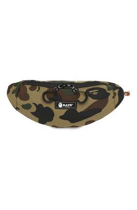 Мужская текстильная поясная сумка BAPE зеленого цвета, арт. 1F80182023 | Фото 1
