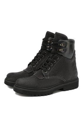 Женские кожаные ботинки patty MONCLER серого цвета, арт. E2-09A-20223-00-01ALW | Фото 1