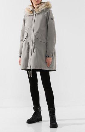 Женские кожаные ботинки patty MONCLER серого цвета, арт. E2-09A-20223-00-01ALW | Фото 2