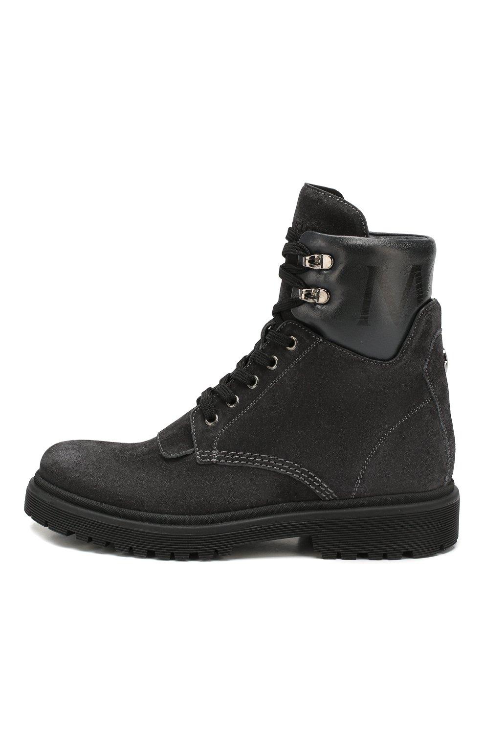 Женские кожаные ботинки patty MONCLER серого цвета, арт. E2-09A-20223-00-01ALW | Фото 3