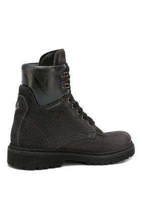 Женские кожаные ботинки patty MONCLER серого цвета, арт. E2-09A-20223-00-01ALW | Фото 4