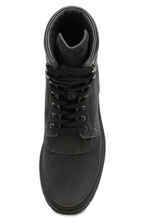 Женские кожаные ботинки patty MONCLER серого цвета, арт. E2-09A-20223-00-01ALW | Фото 5