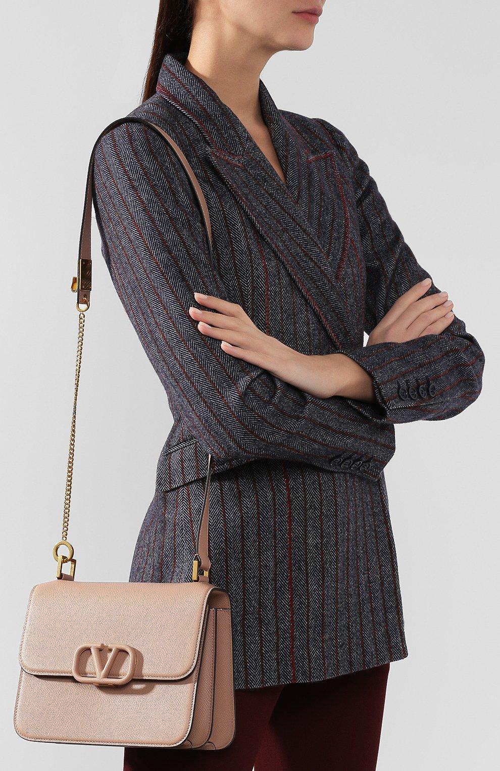 Женская сумка valentino garavani vsling medium VALENTINO бежевого цвета, арт. SW0B0F00/RQR | Фото 5