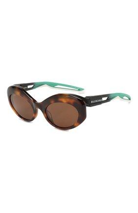 Мужские солнцезащитные очки BALENCIAGA коричневого цвета, арт. 584802/T0023 | Фото 1