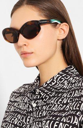 Мужские солнцезащитные очки BALENCIAGA коричневого цвета, арт. 584802/T0023 | Фото 2