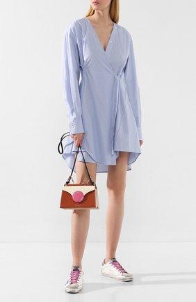 Женская сумка phoebe mini DANSE LENTE коричневого цвета, арт. MINI PH0EBE/R0SEW00D/R0SE | Фото 2