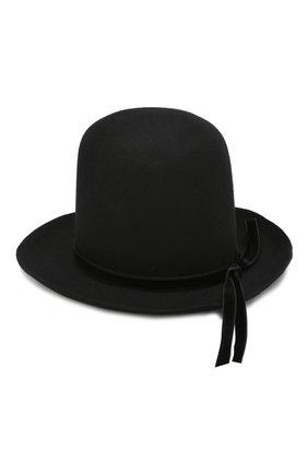 Женская фетровая шляпа ANN DEMEULEMEESTER черного цвета, арт. 1902-8696-400-099   Фото 2