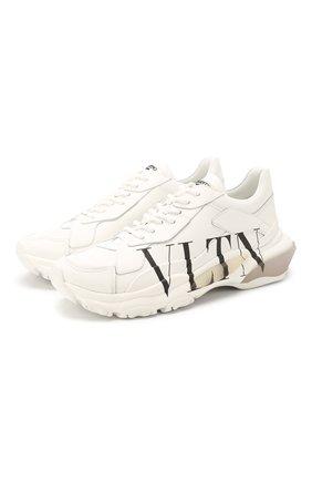 Женские кожаные кроссовки valentino garavani bounce VALENTINO белого цвета, арт. SW0S0M53/RKW | Фото 1