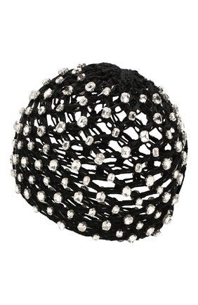 Женский хлопковая шапка SAINT LAURENT черного цвета, арт. 593585/3YB56 | Фото 2