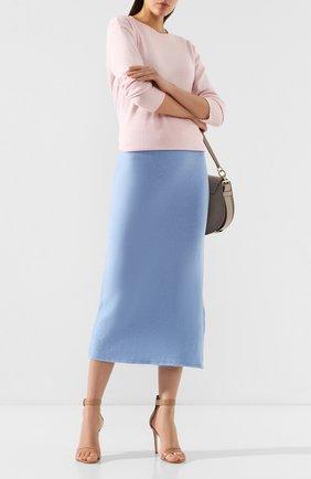 Женская юбка-миди PIETRO BRUNELLI голубого цвета, арт. G01801/WL0068 | Фото 2