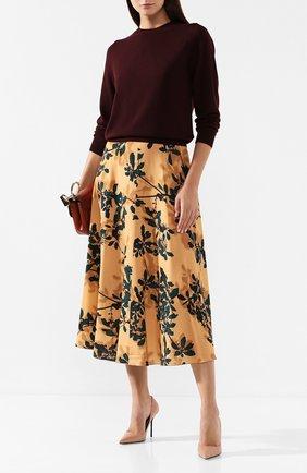 Женская юбка из вискозы DRIES VAN NOTEN оранжевого цвета, арт. 192-10871-8412 | Фото 2