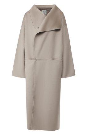 Женское пальто из смеси шерсти и кашемира TOTÊME светло-серого цвета, арт. ANNECY 194-110-717 | Фото 1