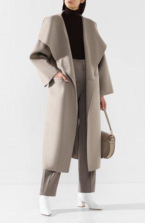 Женское пальто из смеси шерсти и кашемира TOTÊME светло-серого цвета, арт. ANNECY 194-110-717 | Фото 2