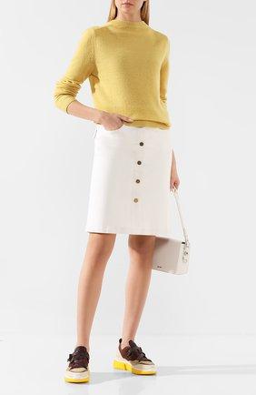 Женская пуловер из смеси шерсти и кашемира MARC JACOBS RUNWAY желтого цвета, арт. K2190092   Фото 2