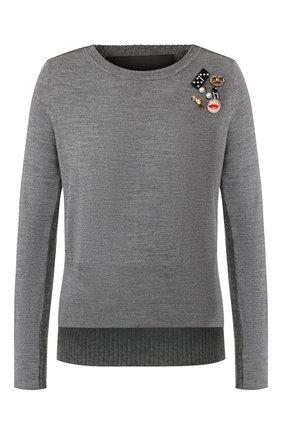 Женская шерстяной пуловер MARC JACOBS (THE) серого цвета, арт. M4008441 | Фото 1