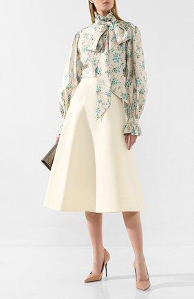 Женская шерстяная юбка MARC JACOBS RUNWAY белого цвета, арт. W2190244 | Фото 2