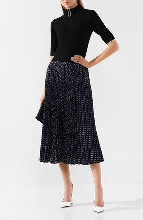 Женское шерстяное платье MARKUS LUPFER черного цвета, арт. KN2621 | Фото 2