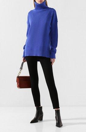 Женская шерстяной свитер MARKUS LUPFER синего цвета, арт. KN2634 | Фото 2