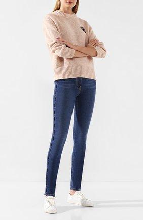 Женские джинсы KENZO темно-синего цвета, арт. F962PA2706EG   Фото 2