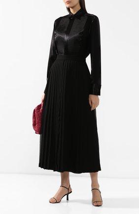 Женская блузка BOTTEGA VENETA черного цвета, арт. 589202/VKFN0 | Фото 2