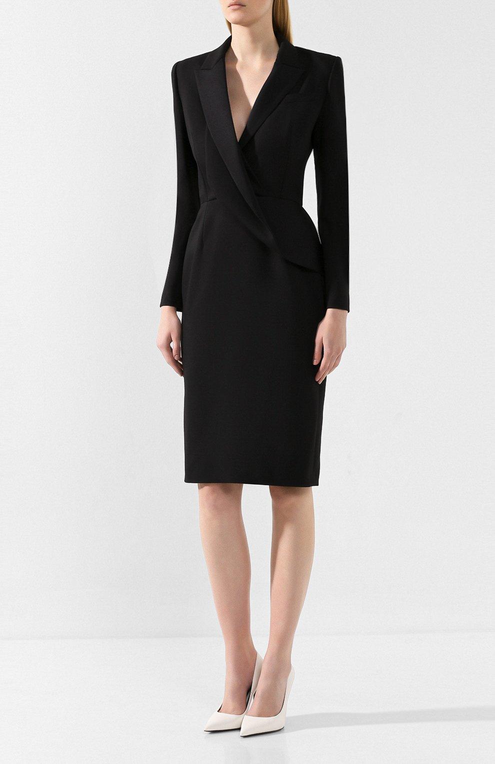 Платье из смеси шерсти и шелка | Фото №3