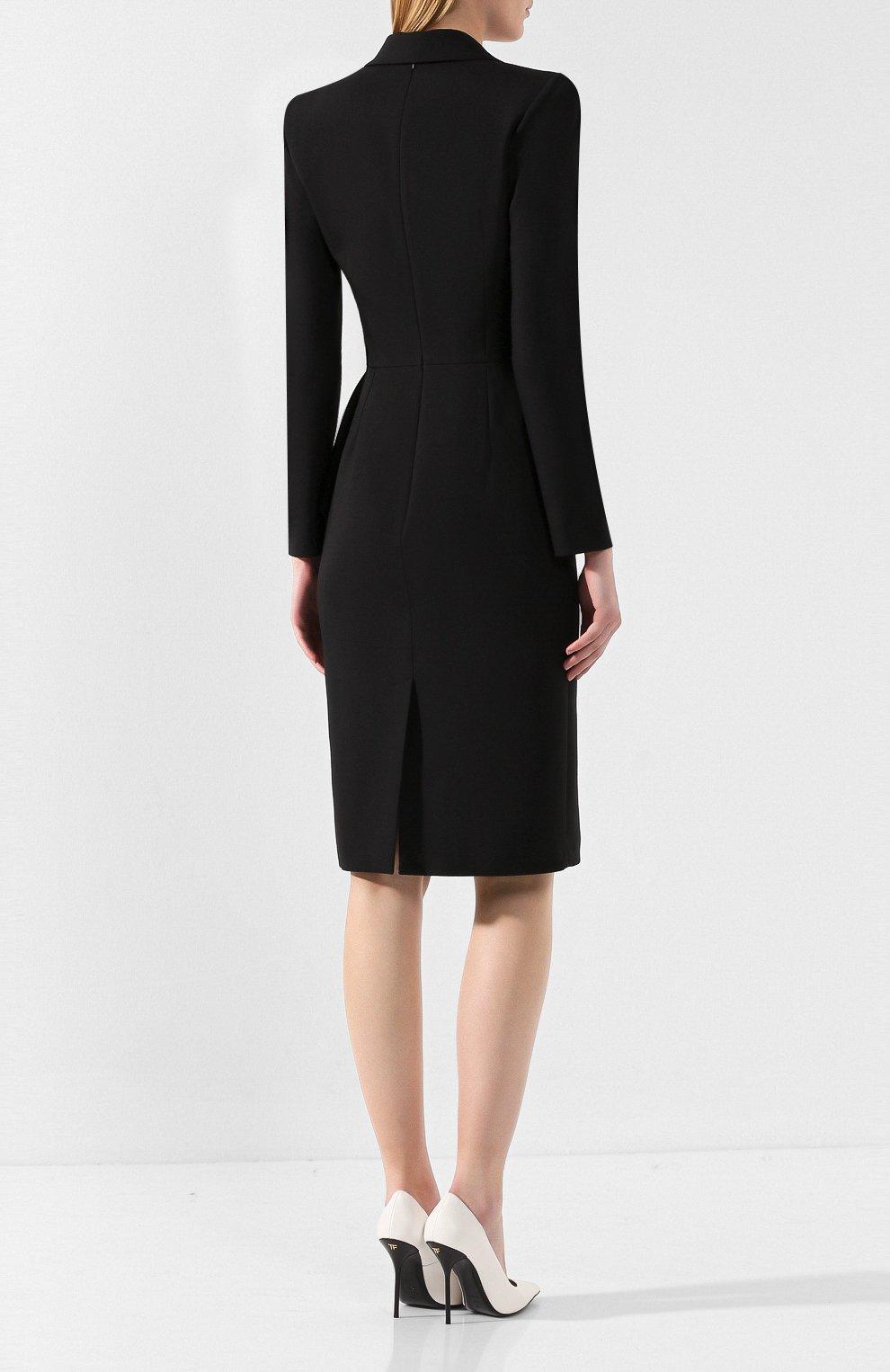 Платье из смеси шерсти и шелка | Фото №4