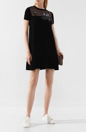 Женское платье из вискозы REDVALENTINO черного цвета, арт. SR0KDB00/4MH | Фото 2