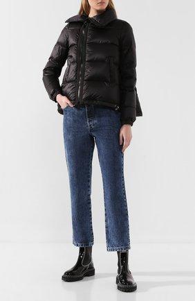 Женский пуховая куртка SACAI черного цвета, арт. SCW-037 | Фото 2