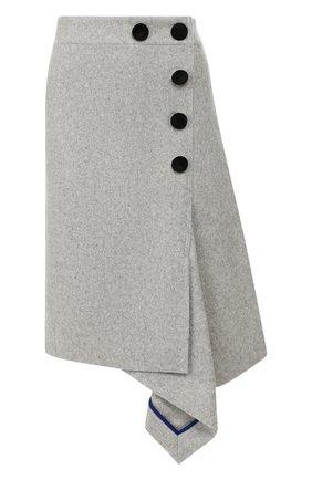 Женская шерстяная юбка SACAI светло-серого цвета, арт. 19-04539 | Фото 1