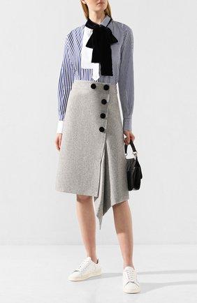 Женская шерстяная юбка SACAI светло-серого цвета, арт. 19-04539 | Фото 2