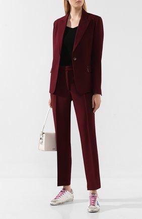 Женские брюки со стрелками GOLDEN GOOSE DELUXE BRAND бордового цвета, арт. G35WP021.A5 | Фото 2