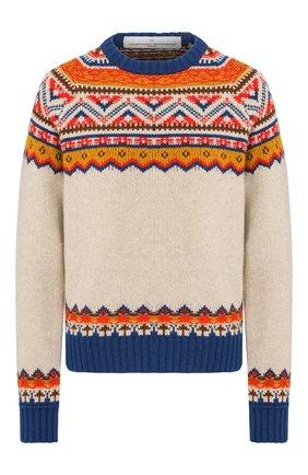 Женская шерстяной свитер GOLDEN GOOSE DELUXE BRAND бежевого цвета, арт. G35WP082.A1 | Фото 1