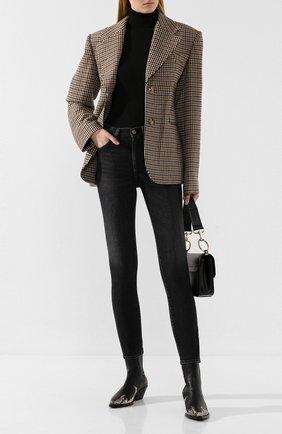 Женские джинсы GOLDEN GOOSE DELUXE BRAND темно-серого цвета, арт. G35WP083.A2 | Фото 2