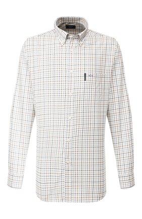 Мужская хлопковая сорочка PAUL&SHARK светло-бежевого цвета, арт. I19P3079 | Фото 1